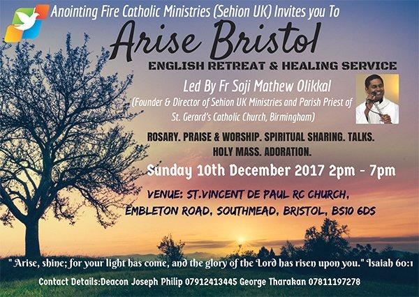 Arise Bristol @ St Vincent De Paul Chuch, Embleton Road, Southmead, Bristol | England | United Kingdom